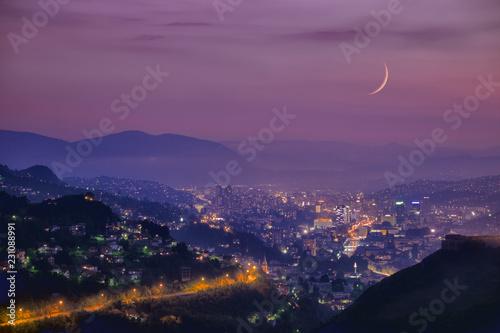 Sarayevo Arabian Night At Twilight, Bosnia And Herzegovina Tapéta, Fotótapéta