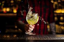 Bartender Making Splash Of A G...
