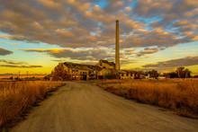Sugar Factory At Sunrise