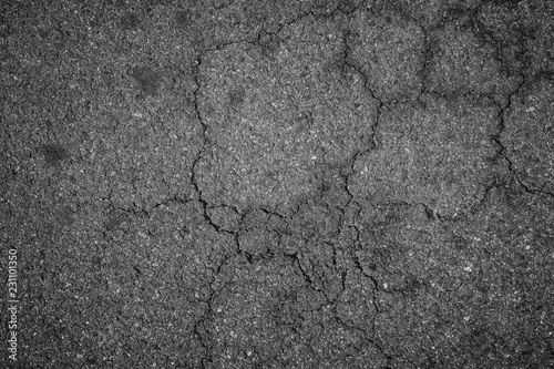 Canvas Print Crack asphalt texture background