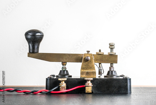 Vintage Morse Code Key - Buy this stock photo and explore