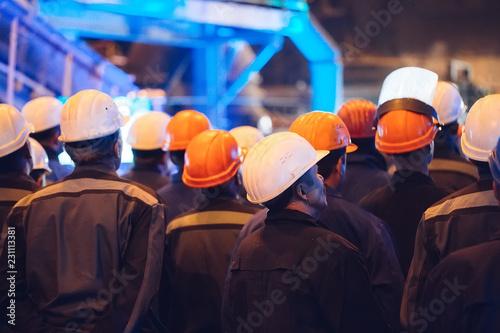 Fotografie, Obraz Strike of workers in heavy industry.