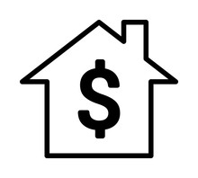 Home / House Buying Or Real Estate Investment Line Art Vector Icon For Apps And Websites