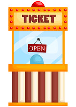 A Ticket Booth With The Open S...