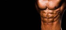 Muscular Shape Male Torso On B...