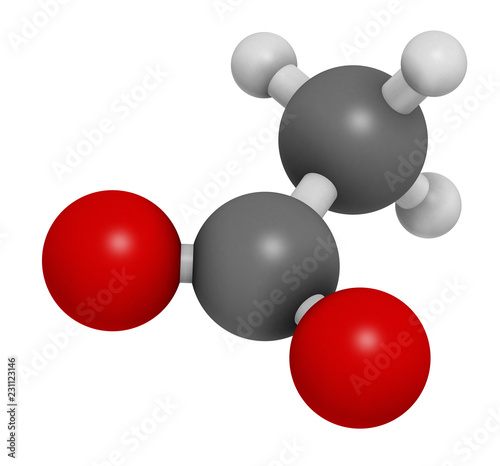 Photo  Acetate anion, chemical structure