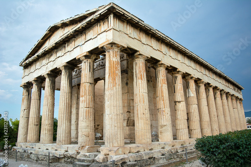 Temple of Hephaestus in Ancient Agora Canvas Print