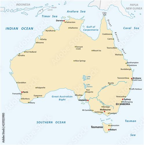 Buy Map Of Australia.A Simple Vector Outline Map Of Australia Buy This Stock Vector And