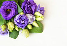 Corner Arrangement With Lisianthus Flowers And Buds