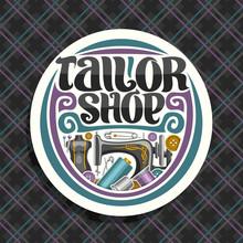 Vector Logo For Tailor Shop, W...