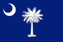 South Carolina Vector Flag. Vector Illustration. United States Of America.