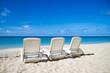 Chaise Lounges on a Sandy Beach
