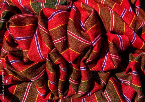 Fotomural Thai loincloth loincloth, Thai style plaid cloth decorated with beautiful Thai fabric