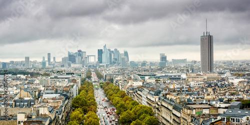 Fotografie, Obraz  Panoramique de la défense ville de Paris
