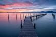 Beautiful sunrise at lake Chiemsee