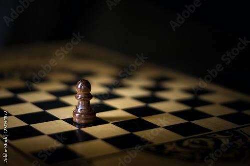 Photographie  black pawn chess
