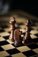 Three Chess Pieces
