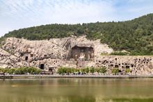 View Of Longmen Grottoes Compl...