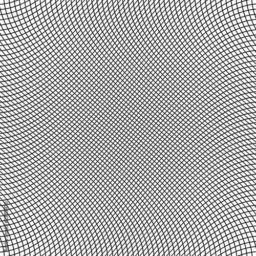 Fotografia, Obraz  Background with curved grid. Vector illustration