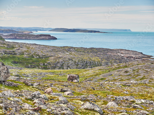 Tuinposter Kust coast of the Barents Sea. Teriberka. Russia