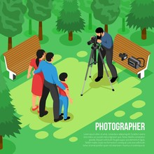 Photographer Isometric Composition