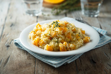 Pumpkin Risotto With Fresh Thyme