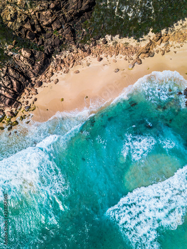 Poster Turquoise Redgate Sands