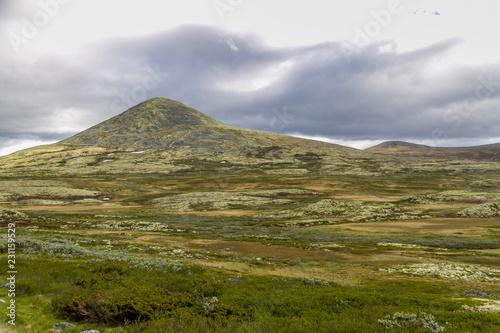 Deurstickers Bleke violet Landscape in Norway
