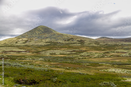 Staande foto Bleke violet Landscape in Norway