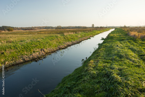 Staande foto Rivier The Uherka river bed in Poland