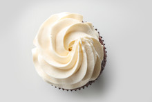 Tasty Cupcake On White Backgro...