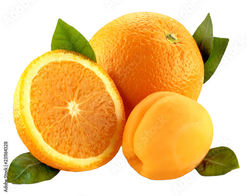 Poster Fruits ORANGE AND APRICOT