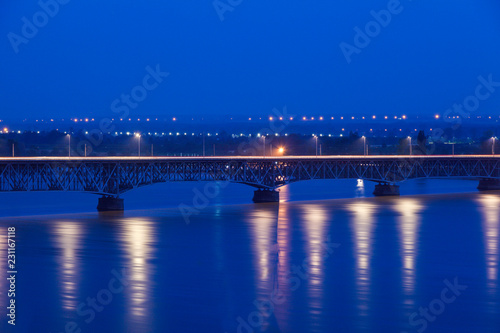 Valokuva Bridge in Plock at night