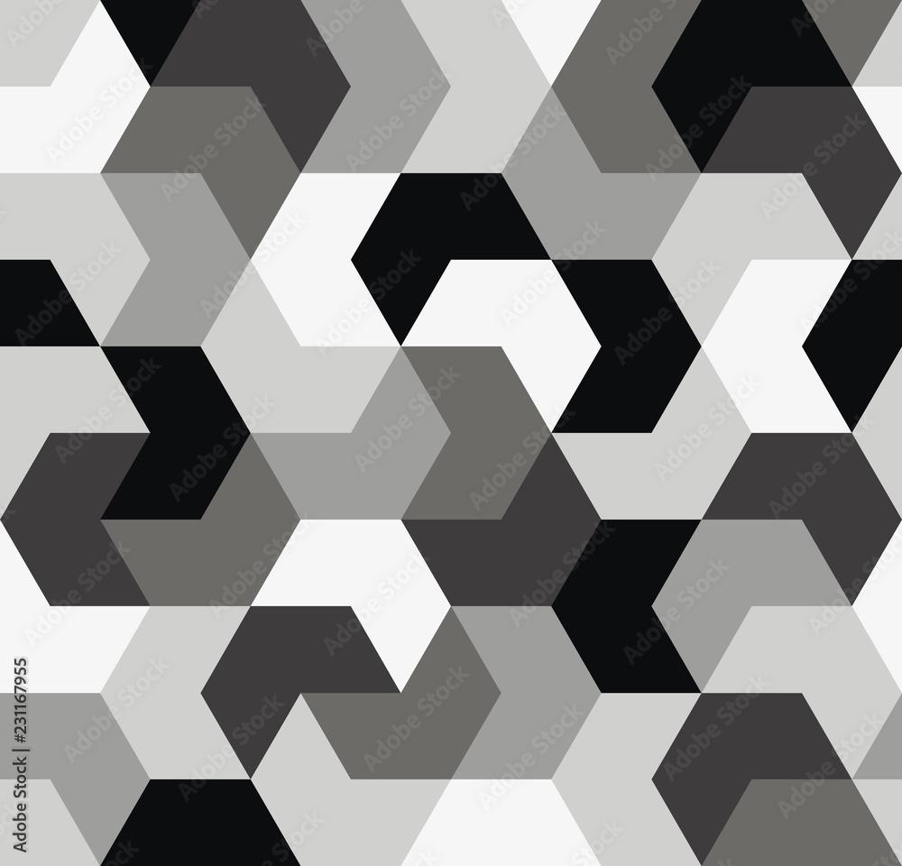Seamless pattern. Endless background of geometric shapes. Arrow seamless pattern
