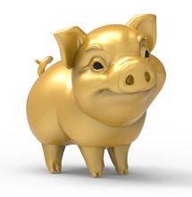 Yellow Golden Pig - Symbol O...