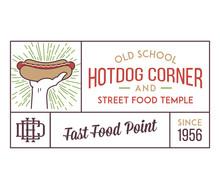Hot Dog Corner Street Food