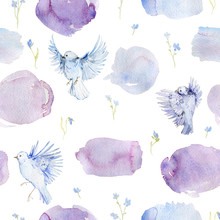 Gentle Seamless Pattern With B...