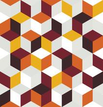 Seamless Pattern Of Colored Cu...
