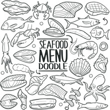 Seafood Menu Animals