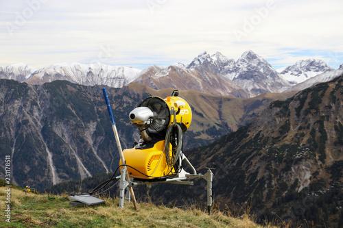 Schneekanone Allgäuer Alpen