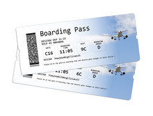 Airline Boarding Pass Tickets ...