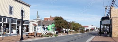 Fotografia Vintage small coastal island town main street