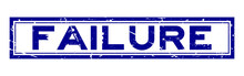 Grunge Blue Failure Word Square Rubber Seal Stamp On White Background