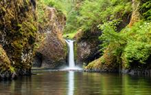 Punch Bowl Falls Along The Eagle Creek Trail In Oregon, USA
