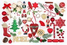 Christmas Background With Noel...