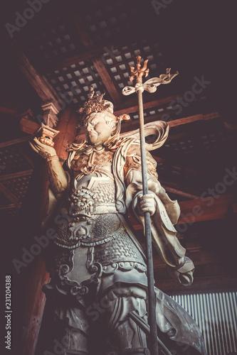 Staande foto Asia land Komokuten statue in Daibutsu-den Todai-ji temple, Nara, Japan