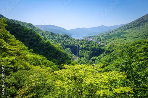 Staande foto Asia land Kegon falls and Chuzenji lake, Nikko, Japan