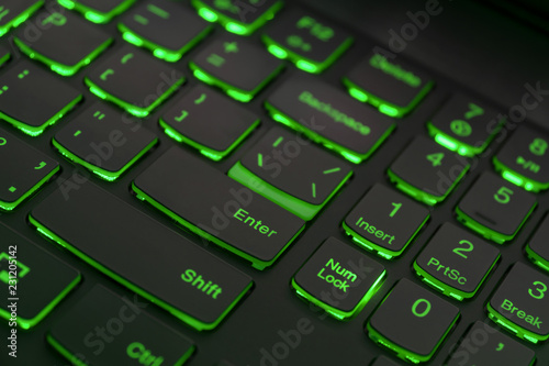 Photo  Colorful keyboard for gaming