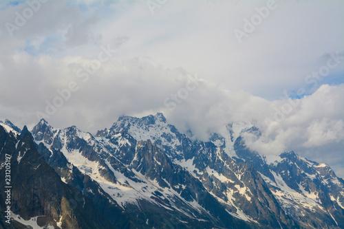 Foto op Canvas Bleke violet beautiful landscapes alpes mountains