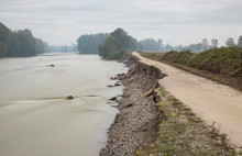 Embankments After The Flood In Northern Italy - Long Esposure